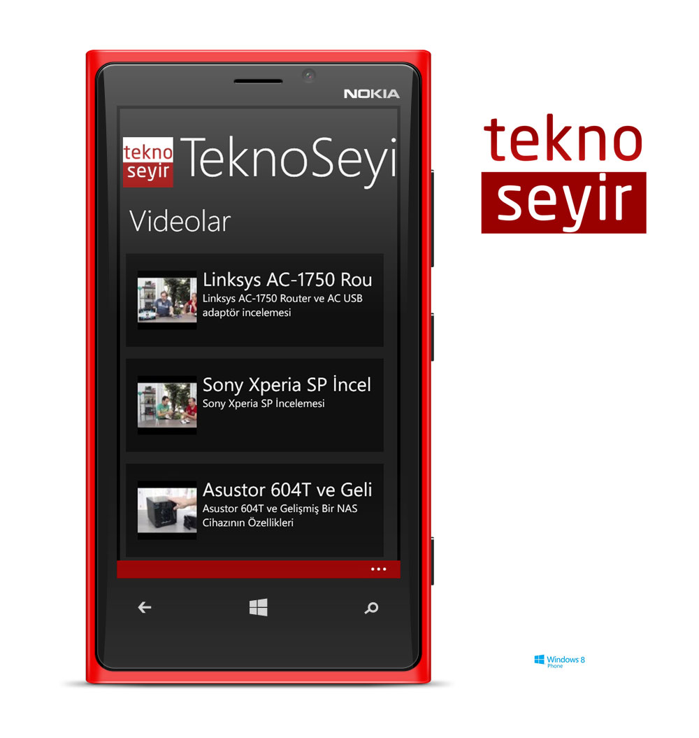 TeknoSeyir Windows Phone Uygulaması